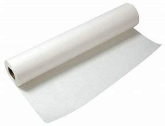 Onderzoektafelrol geplastificeerd 50mx59cm wit 1 rol