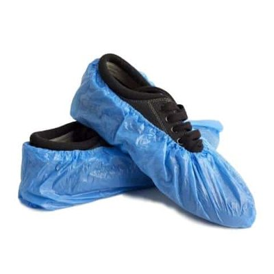 Wegwerp schoenovertrek blauw 100st