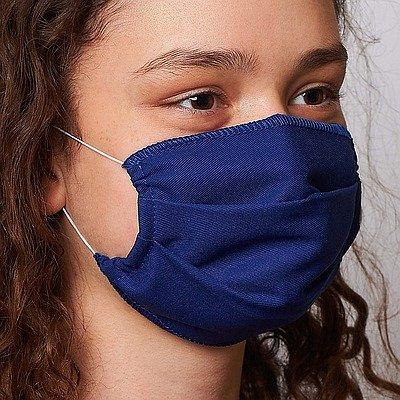 *Katoen rechthoekig mondmasker 1-laags 1st