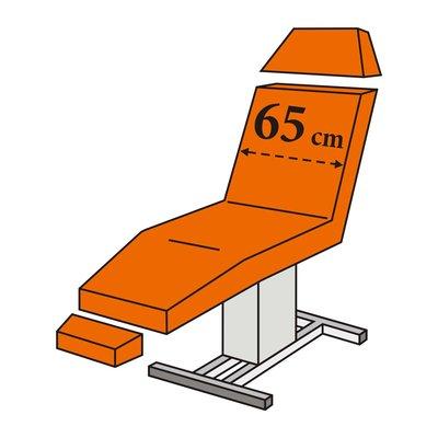 Zetelovertrek badstof voor 3-delige behandelstoel