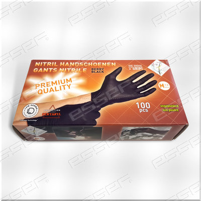 Handschoenen Nitril zwart Berry Black 100st