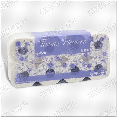 Flowers Toiletpapierrol 100% Cell.3lg 250v 8rl