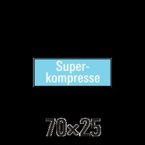 """Handdoek """"S"""" superkompressen badstof 6st"""